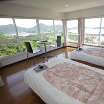 【デラックスツイン】お部屋からは瀬戸内海を見ることができます