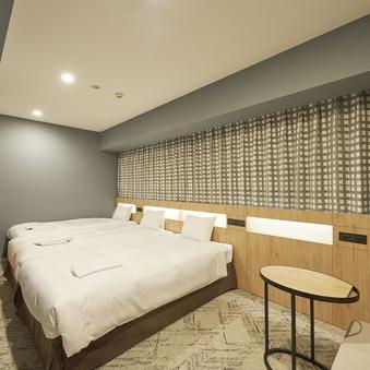 【禁煙】トリプル■23.9平米■ベッド幅110cm×2台