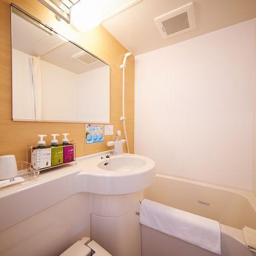 【客室ユニットバス】お部屋の水道水は全て健康イオン水です♪