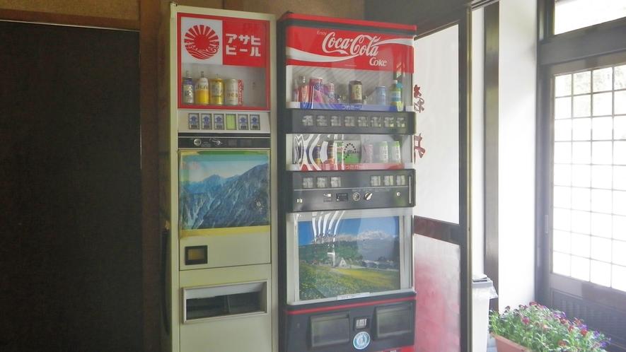 *フロントにはジュースとお酒の自販機あり