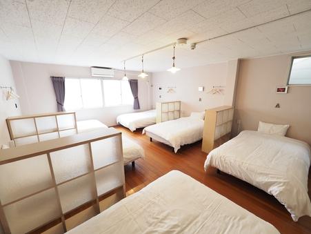 【グループ個室】1部屋6人まで宿泊可能!