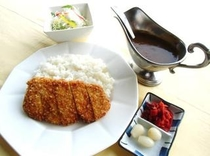 カツカレー定食(夕食)