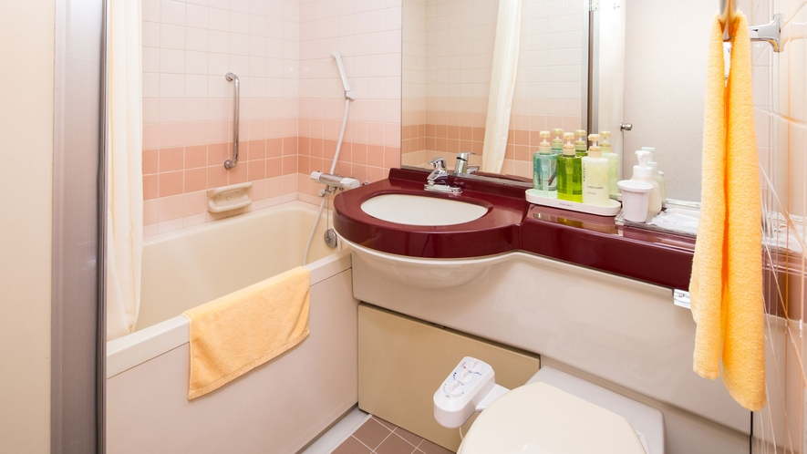 《シングル・セミダブル》バス・洗面台・トイレがひとつになったコンパクトな空間