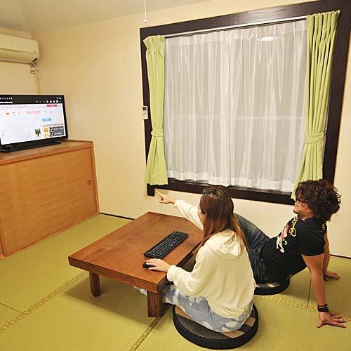 【ペンションtype・うりずん】インターネット(光回線)無料動画やアニメ動画もテレビ画面で閲覧可能♪