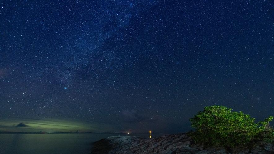 〇辺戸岬の星空