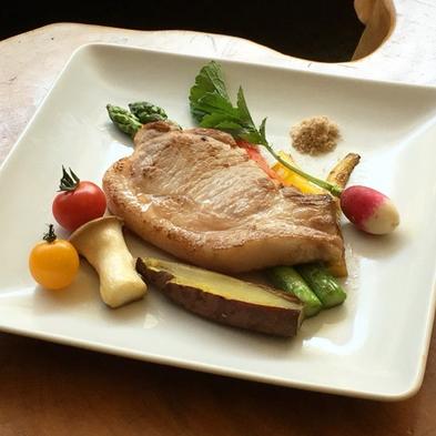 【日〜金◆1泊夕食】≪1日1組≫伝統と良質を誇る鹿児島の黒豚を、絶妙な焼き加減で…。〜黒豚ステーキ〜