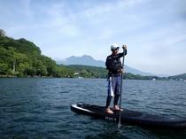 【夏】眼の前の野尻湖でSUPができます☆