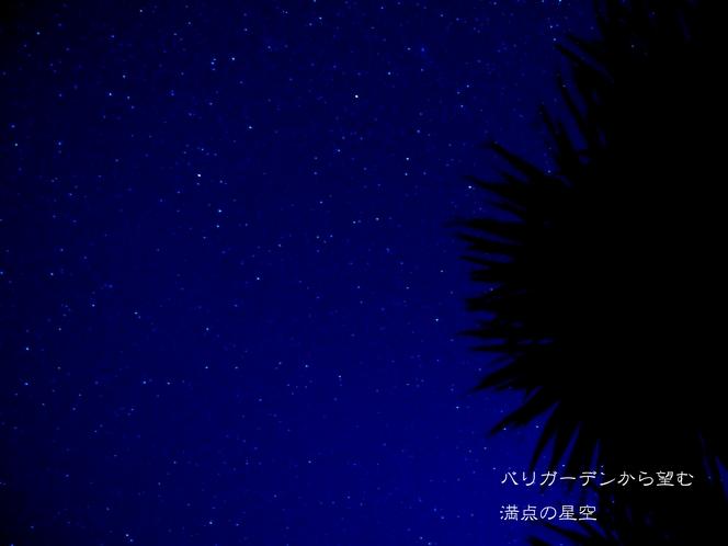 バリガーデンの星空