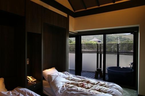 【別邸401号室】ツインルーム20平米◆禁煙(露天風呂付)
