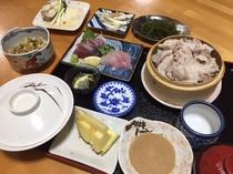 夕食アグー豚