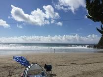 7月初旬の入田浜 雲がきれい