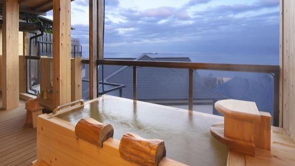 【古民家 あじさい】1階 ベッド付9畳和洋室露天風呂付客室