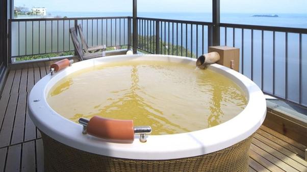 【くつろぎの和室 見晴し】2階角 12畳和室 露天風呂付客室