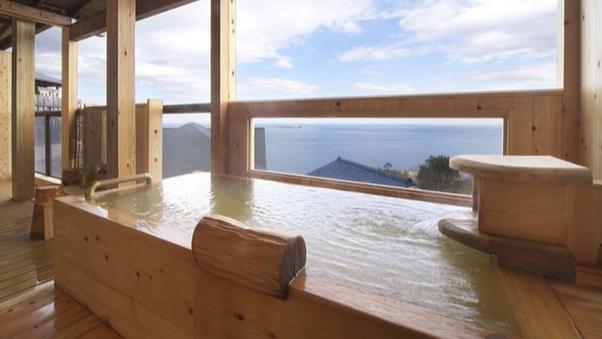 【古民家 しゃくなげ】1階 ベッド付9畳和洋室露天風呂付客室