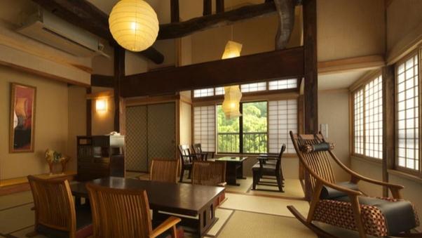【別邸 けやき】2階 ベッド付 12畳和洋室露天風呂付客室
