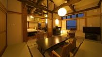 【別邸 かえで】2階 ベッドルーム付 12畳和室 個室露天風呂付