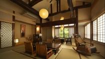 【別邸 けやき】2階 ベッドルーム付 12畳和室 個室露天風呂付