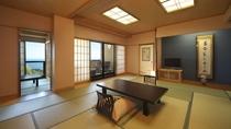【本館 漁火】1階 15畳+3畳和室 個室露天風呂付