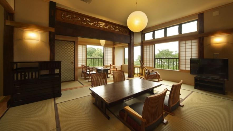 【別邸 さくら】1階 ベッドルーム付 12畳和室 個室露天風呂付