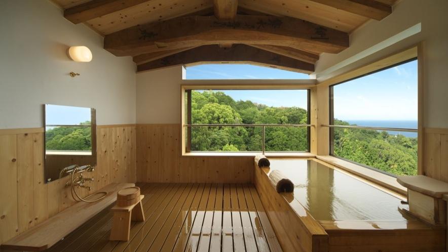【別邸 けやき】お部屋もお風呂も眺望がすばらしい 個室露天風呂
