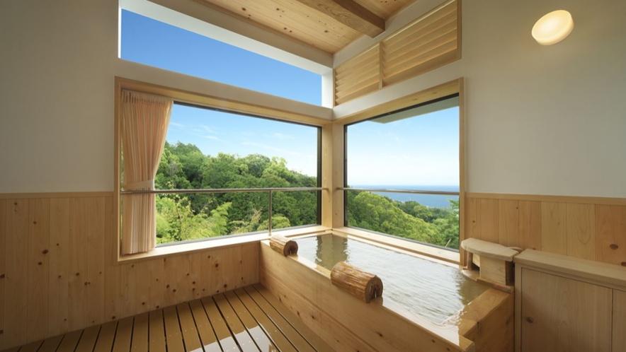 【別邸さくら】山と海を独り占めできるロケーション 個室露天風呂