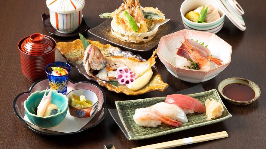 「波の花」夕食メニュー「のどぐろ、にぎり寿司コース」