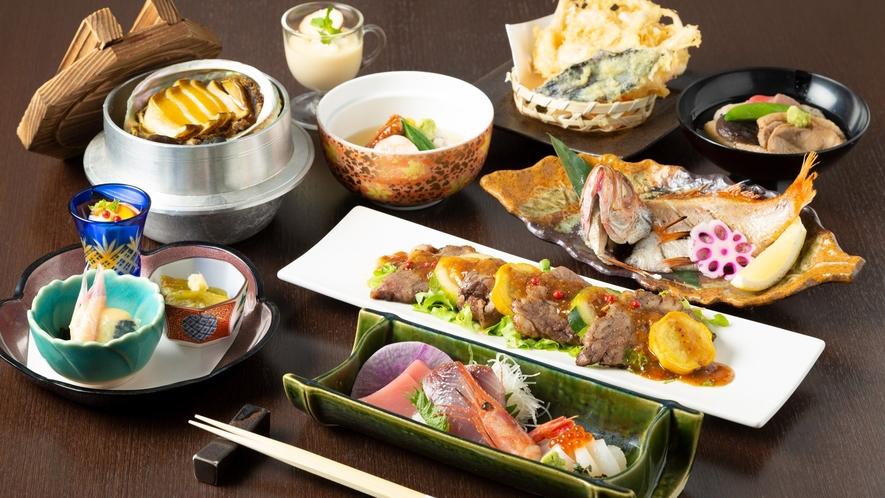 「波の花」夕食メニュー「のどぐろ・能登牛等、金沢の豪華食材満喫のコース」