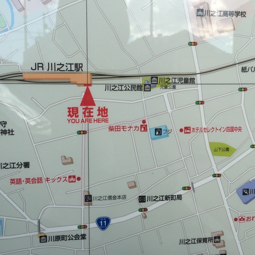 JR川之江駅前地図に出てます