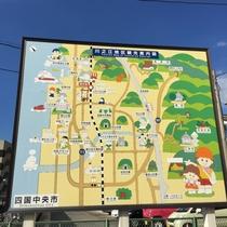 駅前観光案内図