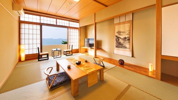 ■最上階和室10〜12帖■日本海一望〜菊ヶ浜の絶景〜【禁煙】