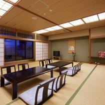 【部屋】城下町側の大部屋和室(20帖)です!3世代・グループでのご宿泊に最適♪(一例)