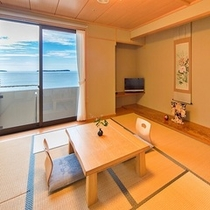 ◎◆禁煙◆【日本海一望】菊ヶ浜の風景を望む♪最上階和室10~12帖(一例)