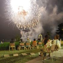 夜空を彩る花火大会~美萩の庭から~