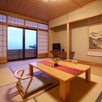 ◆禁煙◆【日本海一望】菊ヶ浜の風景を望む♪最上階和室10~12帖(一例)