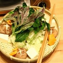 しゃぶしゃぶには伊東産の野菜が使われています♪