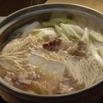 冬季限定!しし鍋、温まりますよ。