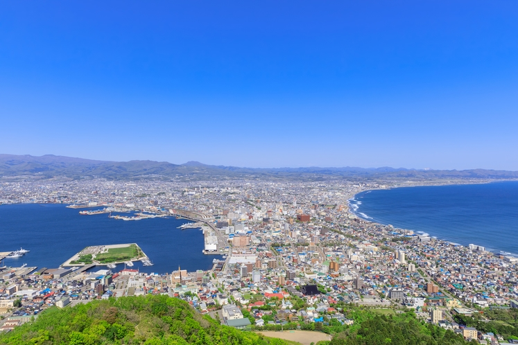 函館山からの函館市内