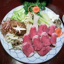 【夕食】ぼたん鍋