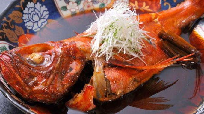 【ご当地グルメ】たっぷりと脂ののった自慢の金目鯛の煮付けを丸ごと一尾ご提供♪「金目鯛姿煮プラン」