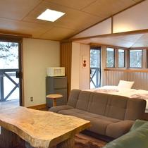*客室一例/大人数でもゆったりと寛げる広々とした空間です。