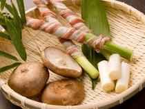 季節野菜の囲炉裏き