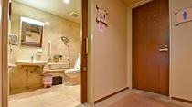 【3F・多目的トイレ】車いすのままご利用いただける多目的トイレがございます。