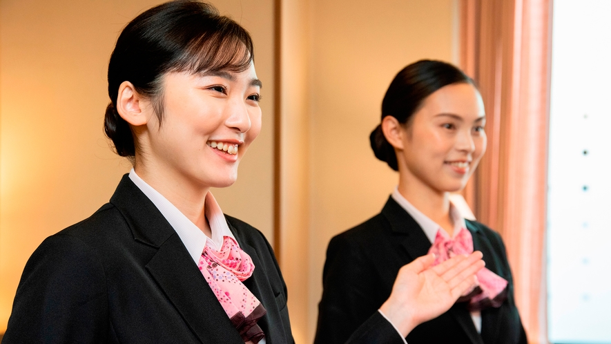 【スタッフイメージ】数あるホテルの中からアセント福岡にご宿泊いただきありがとうございます。