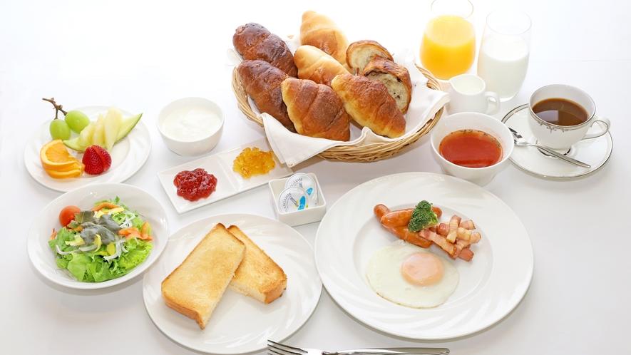 【洋朝食一例】税込1200円・差額のご精算でランチへのご変更も可能です。