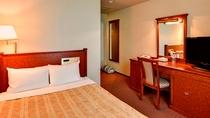 【スモールダブル】14.5平米☆ベッド幅140 全室Wi-Fi&お水のペットボトル付!