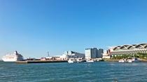 【アクセス:博多港国際ターミナル】博多港離島行きとは逆側にございます。クルーズ船などはコチラから