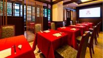 【1Fレストラン・老上海】フロア・朝食をご提供させていただくレストランは中華なデザインです