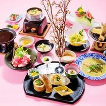 *四季旬彩 春膳/極春膳をベースに構成したリーズナブルなコース
