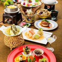 *四季旬彩 秋膳/厳選した地のものに、料理長が腕を振るった料理をご堪能ください。