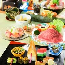 *四季旬彩 極春膳/厳選した旬の食材と料理長が腕を振るった料理の数々。